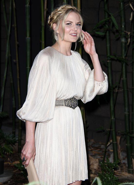 Jennifer Morrison w pastelowej sukience