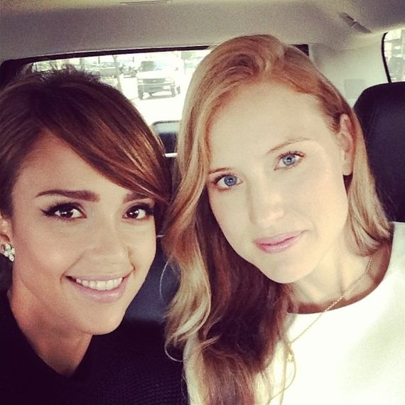 Jessica Alba na New Jork Fashion Week - relacja z Instagramu