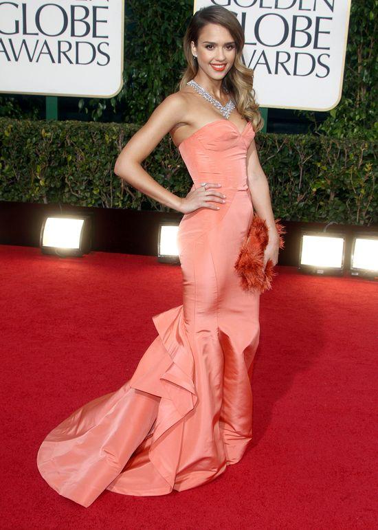 Jessica Alba w sukni Oscara de la Renta (FOTO)