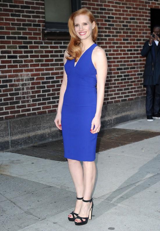 Jessica Chastain postawiła na kobalt (FOTO)