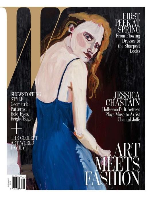 Jessica Chastain na 4 okładkach W Magazine