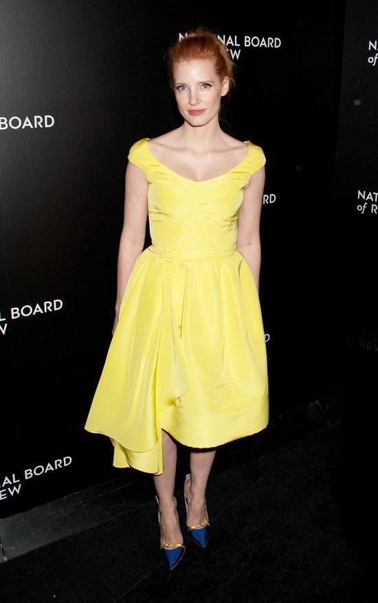 Jessica Chastain w sukience Oscara de la Renta (FOTO)