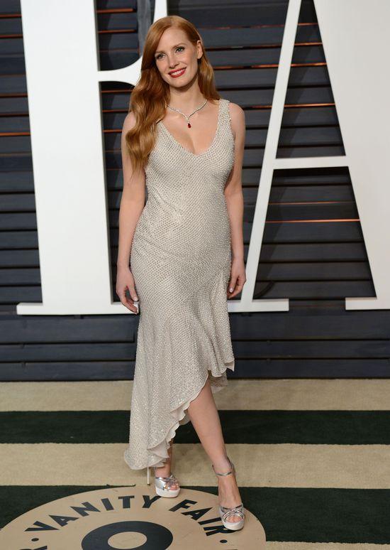 Jessica Chastain zaskoczyła pooskarową kreacją z H&M (FOTO)