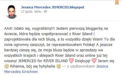 Jessica Mercedes dla River Island