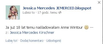Jessica Mercedes jak Anna Wintour? (FOTO)