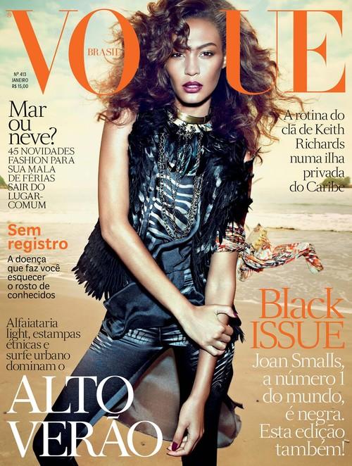 Joan Smalls na dwóch okładkach Vogue brasil