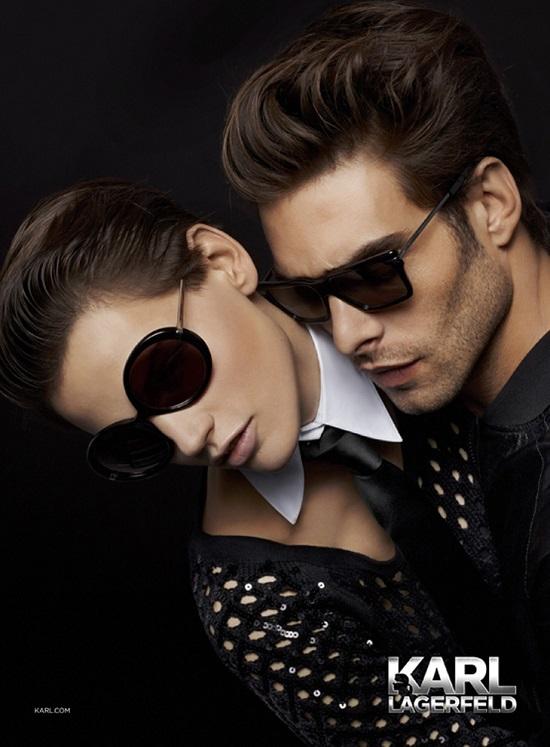 Kampania Karl Lagerfeld Eyewear jesień-zima 2013/14