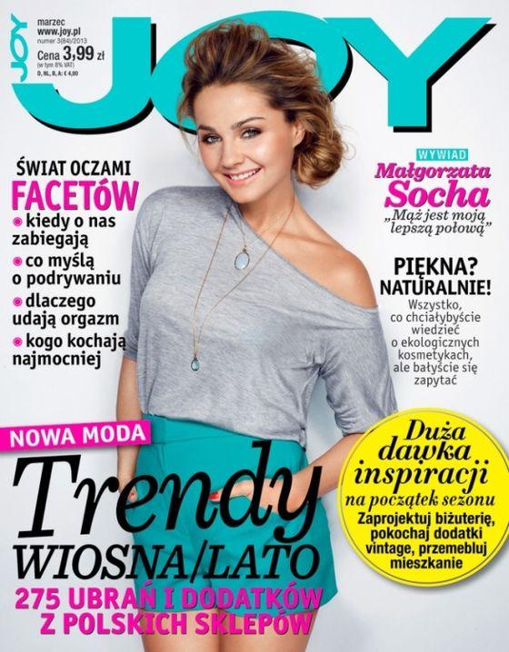 Wiosenna Małgorzata Socha na okładce magazynu Joy