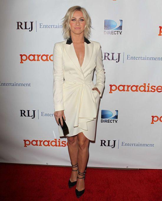 Julianne Hough w białej sukience Marchesy