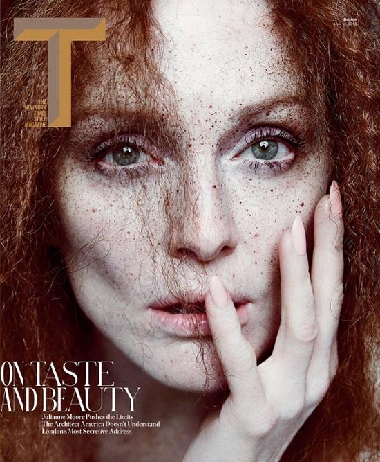 Julianne Moore w artystycznym ujęciu dla T Magazine