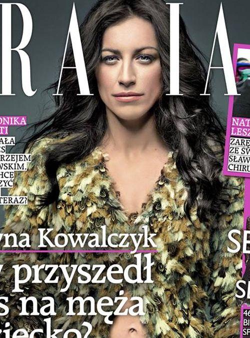 Wyretuszowana Justyna Kowalczyk na okładce magazynu