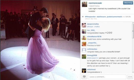 Kaley Cuoco w różowej sukni ślubnej od Very Wang (FOTO)