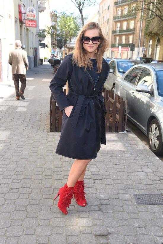 Agnieszka Kaczorowska - wąsik i szalone buty (FOTO)