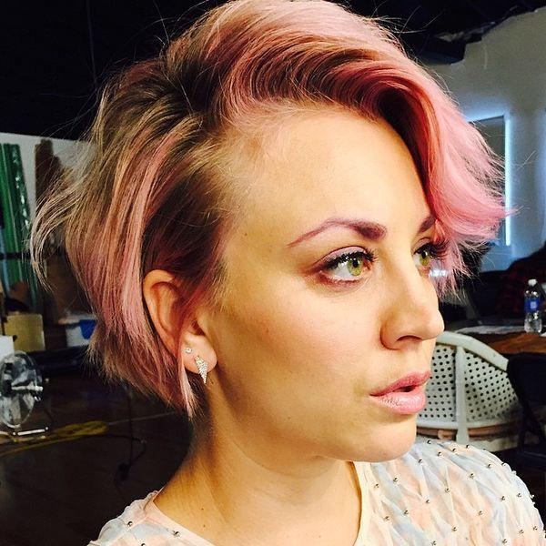 Kaley Cuoco wprowadziła nowy trend kolorowych brwi