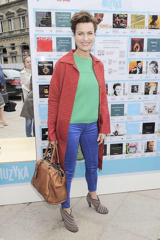 Danuta Stenka zaskoczyła kolorową stylizacją (FOTO)