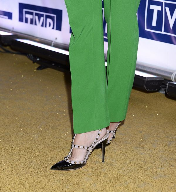 Anna Mucha niczym zielona żabka, czyli wpadka modowa (FOTO)