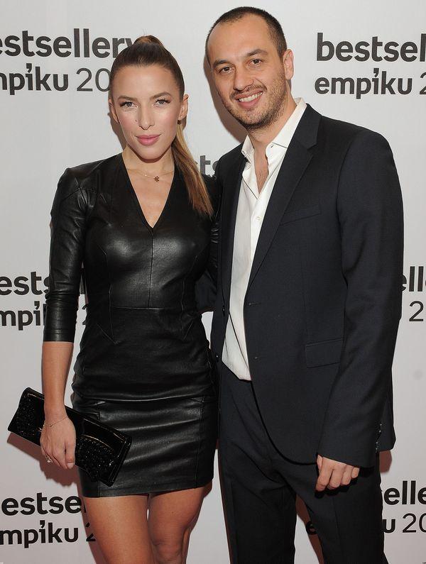 Ewa Chodakowska zachwyca w czarnej skórzanej sukience
