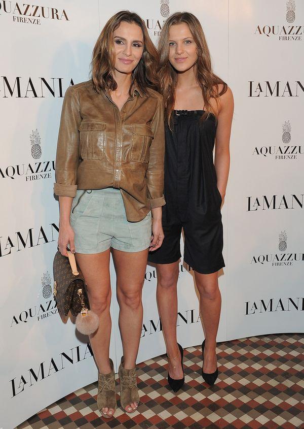 Sara Boruc z siostrą, Ines Mannei, na pokazie La Mania