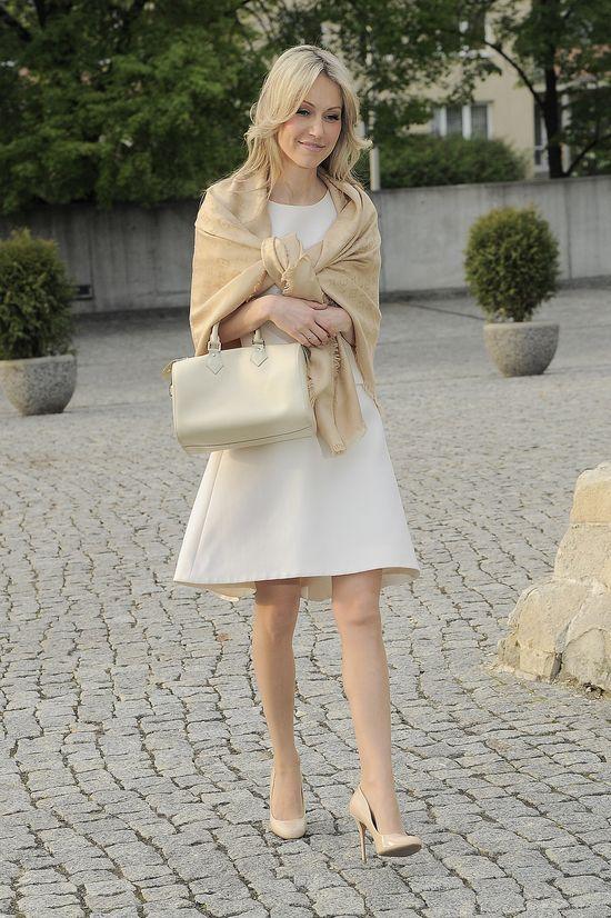 Magdalena Ogórek w szalu marki Louis Vuitton (FOTO)