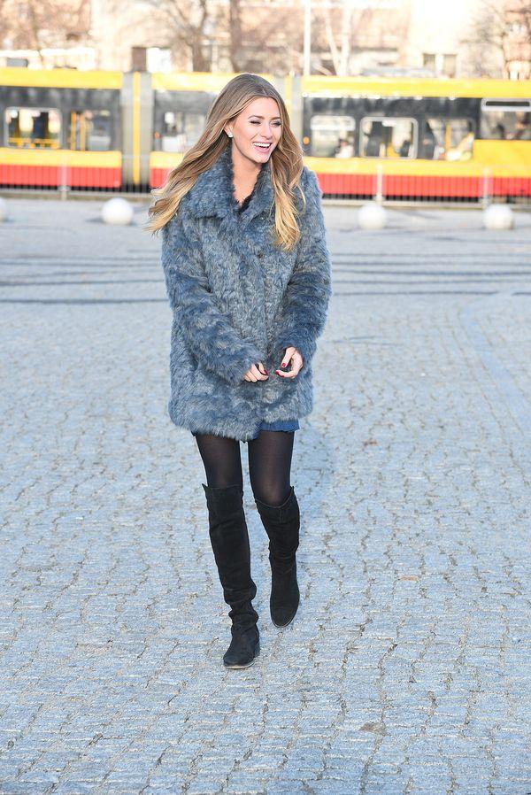 Marcelina Zawadzka dobrze przygotowała się na mrozy (FOTO)