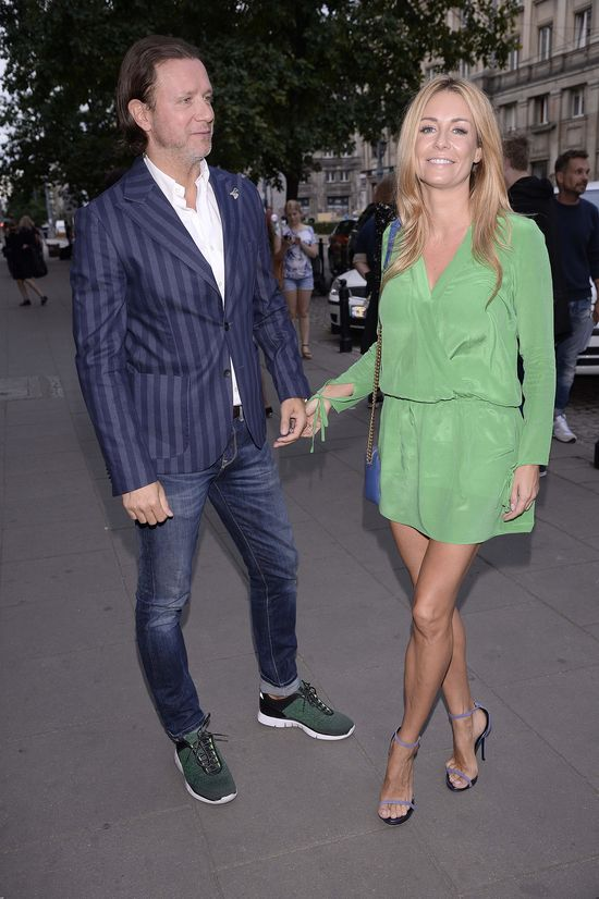 Małgorzata Rozenek pokazała nogi w zielonej mini (FOTO)