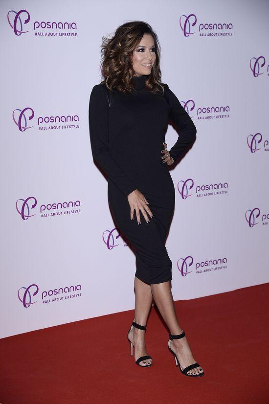 Eva Longoria w Polsce błyszczała w małej czarnej (FOTO)