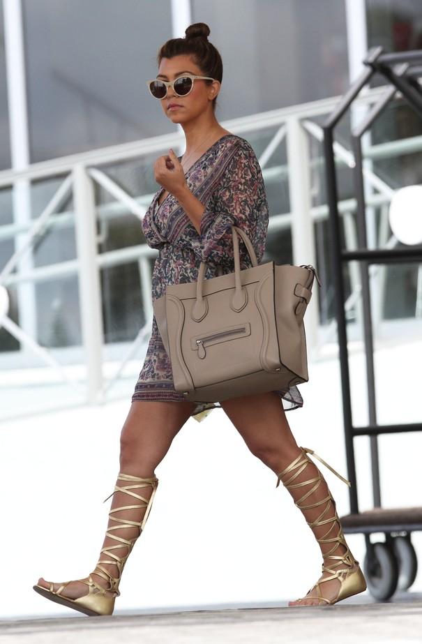 Kourtney Kardashian w rzymiankach