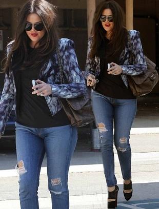 Khloe Kardashian w codziennej stylizacji