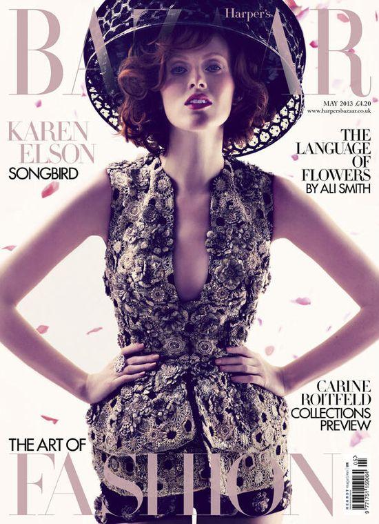 Karen Elson w Harper's Bazaar