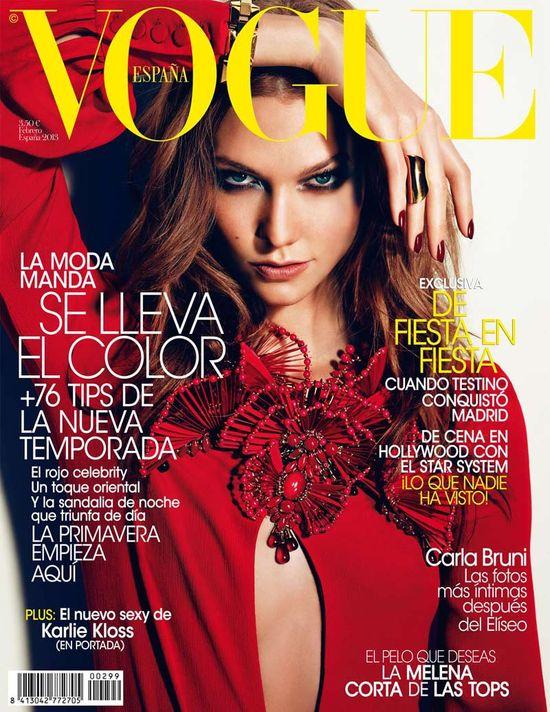 Karlie Kloss w kreacji z wiosenno-letniej kolekcji Gucci