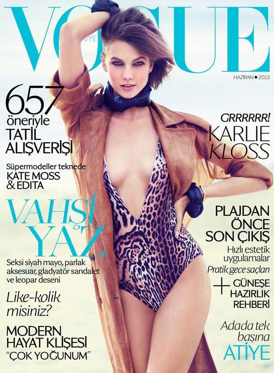 Karlie Kloss w odważnym stroju na okładce Vogue