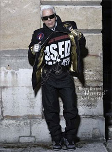 Karl Lagerfeld raperem