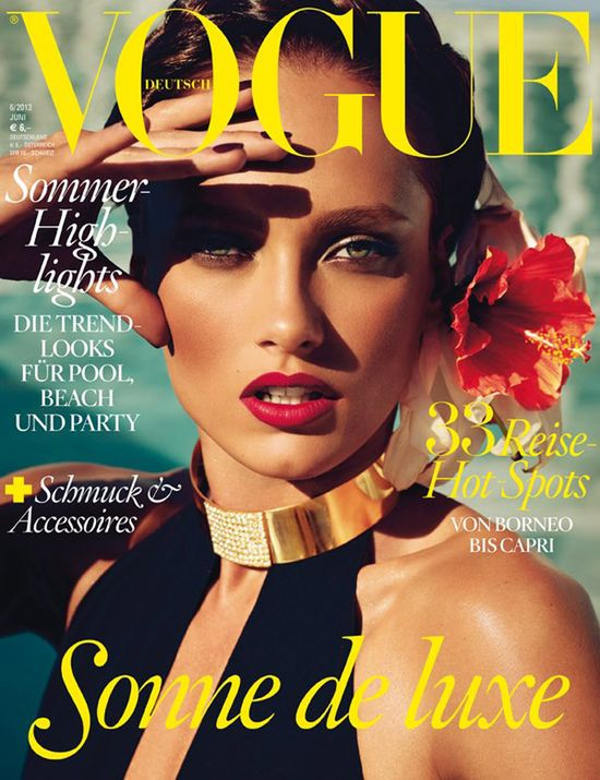 Karmen Pedaru na kolejnej okładce Vogue