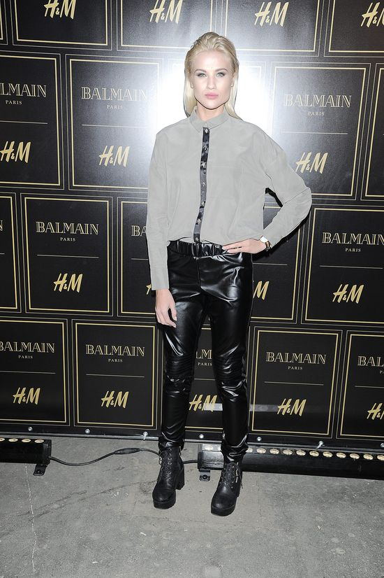 Tłum gwiazd i celebrytek na prezentacji kolekcji BalmainxH&M