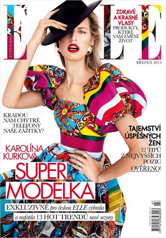 Karolina Kurkova w barwnej sesji dla Elle Czechy