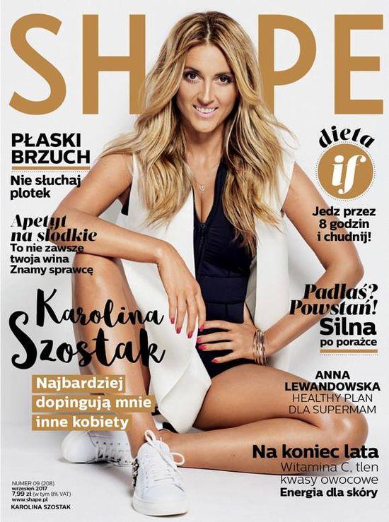 Karolina Szostak we wrześniowym Shape: Wiem, że mnie strasznie hejtują...