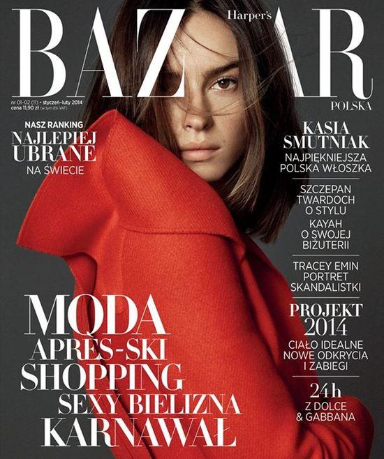 Kasia Smutniak na okładce nowego Harper's Bazaar!