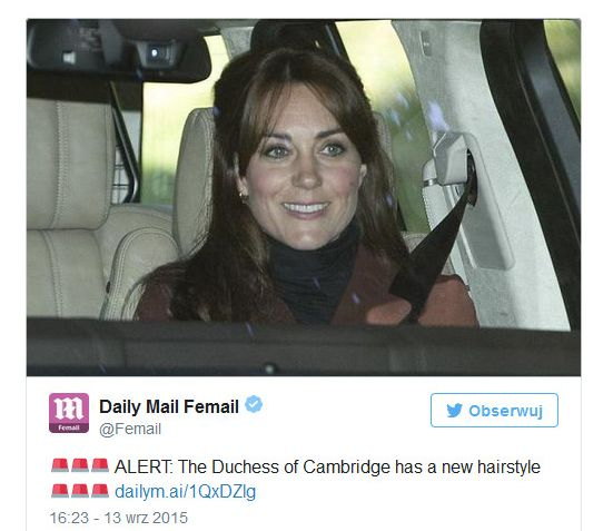 Kate Middleton ma nową fryzurę! (FOTO)