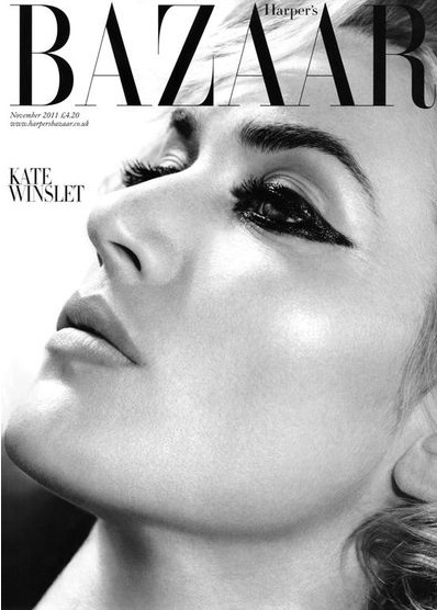 Stylowa Kate Winslet na okładce Harper's Bazaar