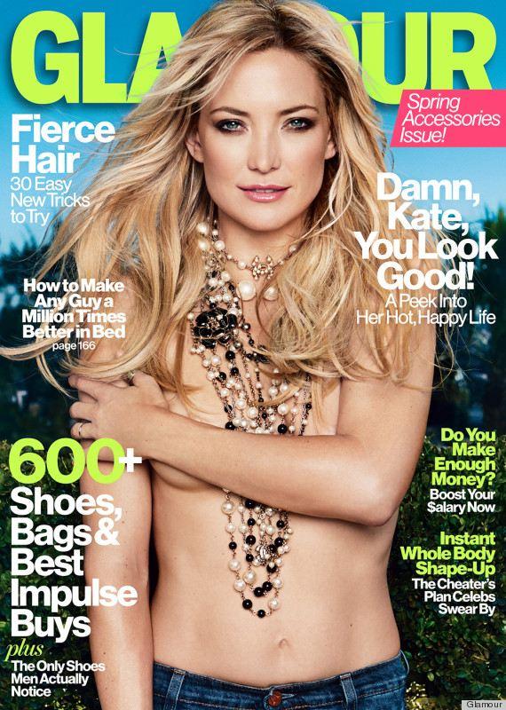 Kate Hudson topless na okładce Glamour