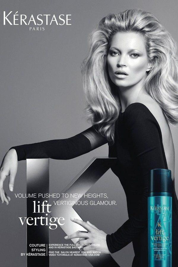Kate Moss w kampanii Kérastase
