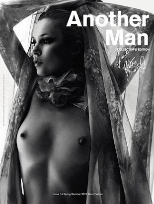 Kate Moss nago na okładce AnOther Magazine
