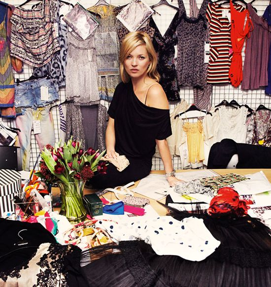 Kate Moss i top shop