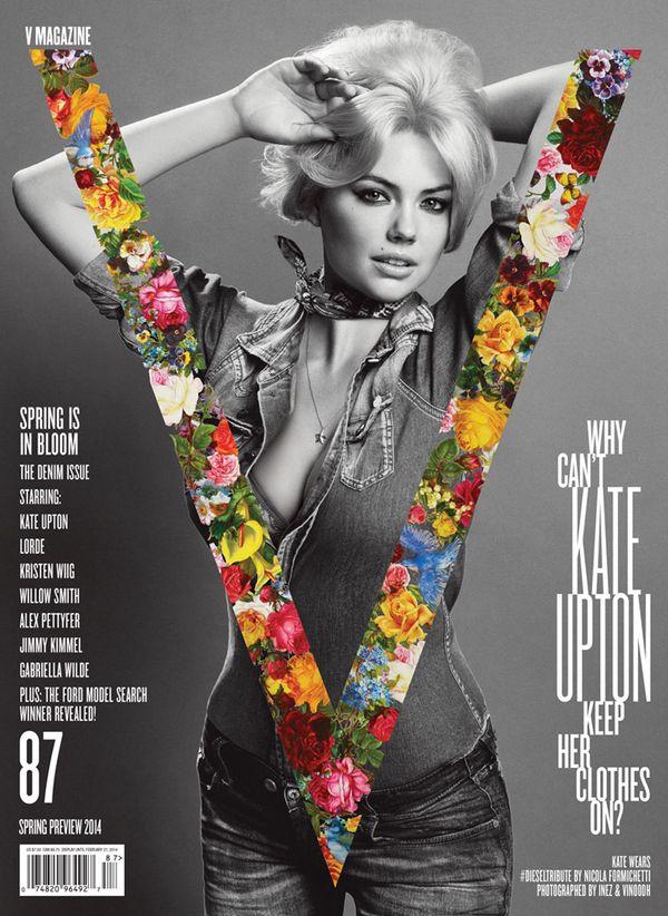 Kate Upton cała w jeansie na okładce V Magazine