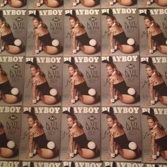 Kate Moss na okładce jubileuszowego Playboya (FOTO)