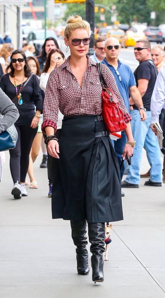 Katherine Heigl w eleganckim zestawie (FOTO)