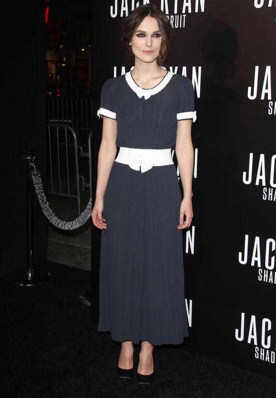 Keira Knightley dodała sobie lat kreacją Chanel (FOTO)