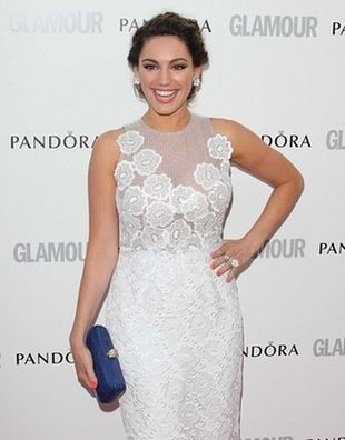 Kelly Brook i Amanda Holden w sukniach od Jacquesa Azagury