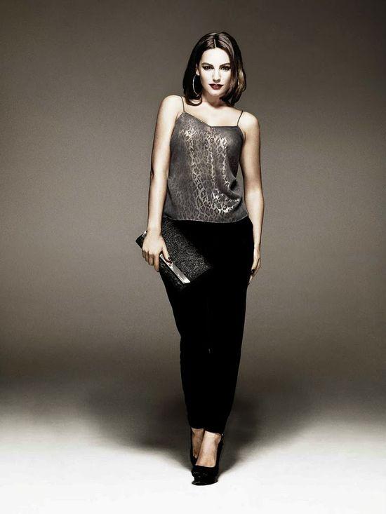 Kelly Brook w świątecznej kampanii bielizny New Look