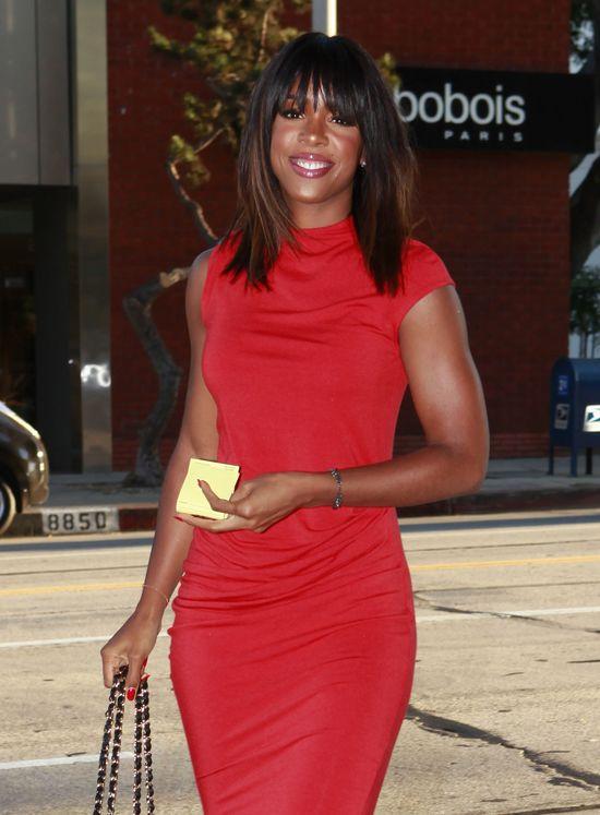 Kelly Rowland w czerwonej sukience (FOTO)
